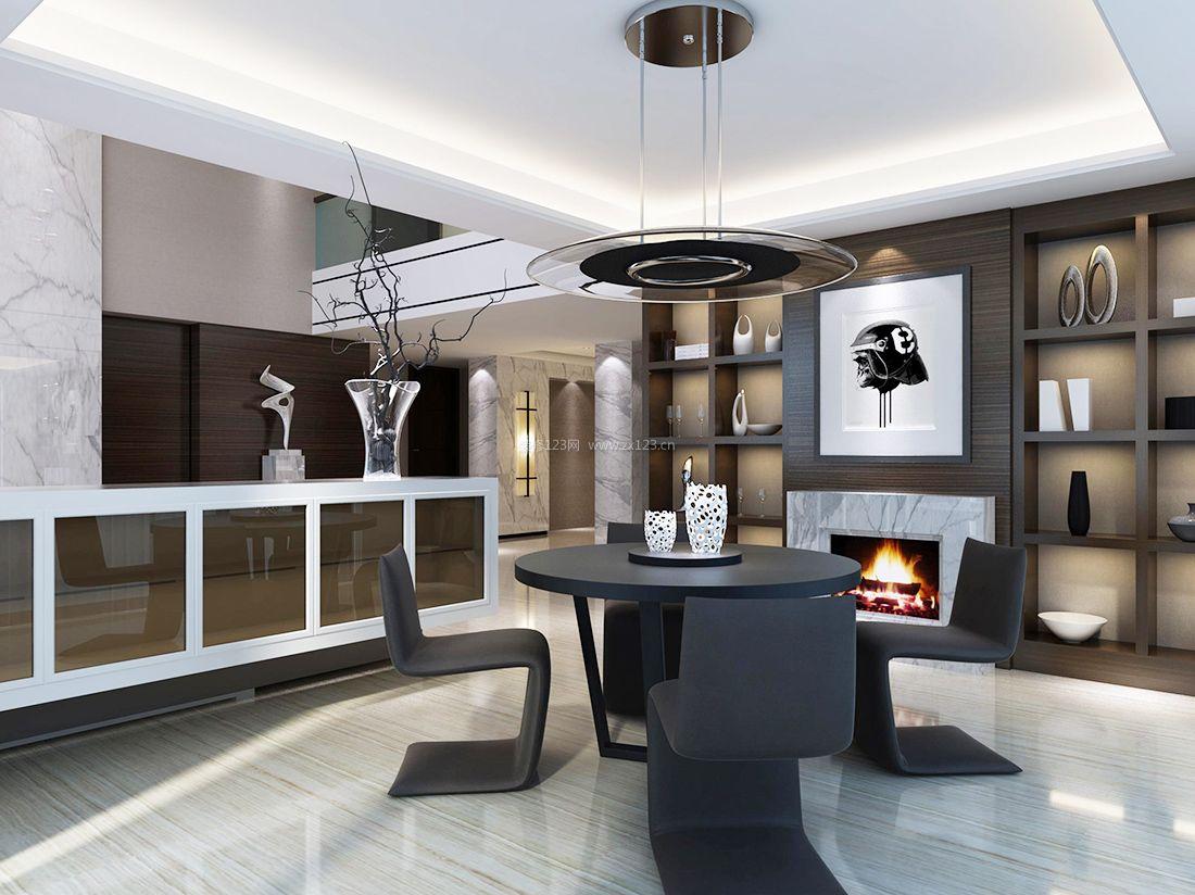 时尚现代风格小型餐厅吊顶装修效果图案例图片