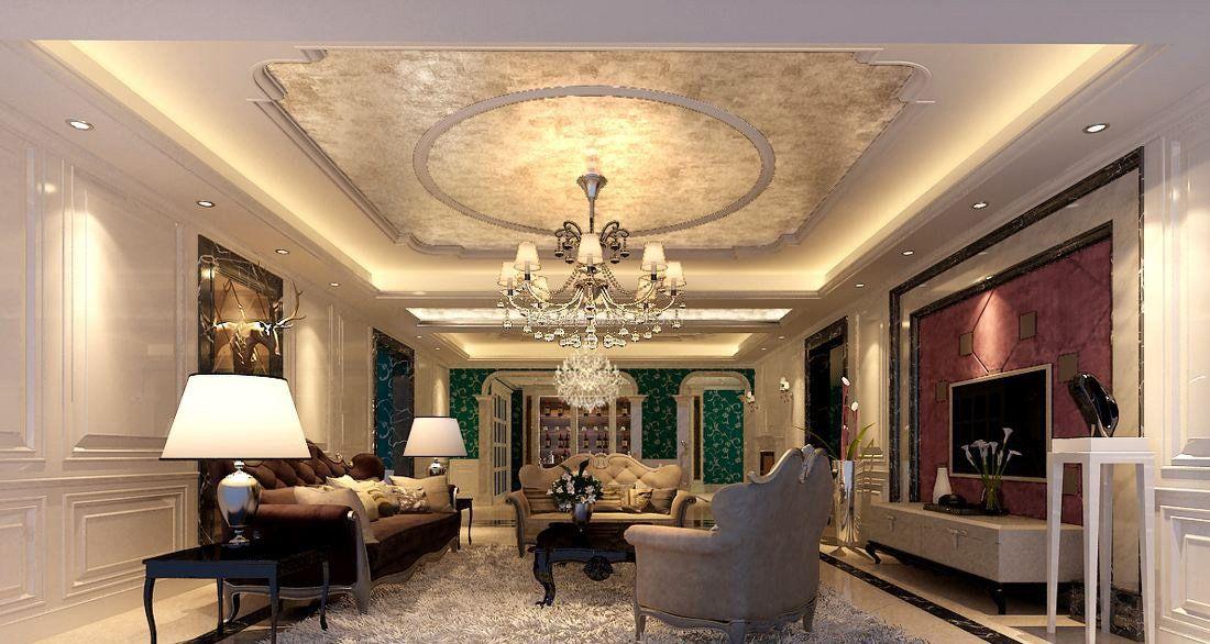 家装效果图 古典 新古典风格客厅吊顶造型图片 提供者:   ← → 可以