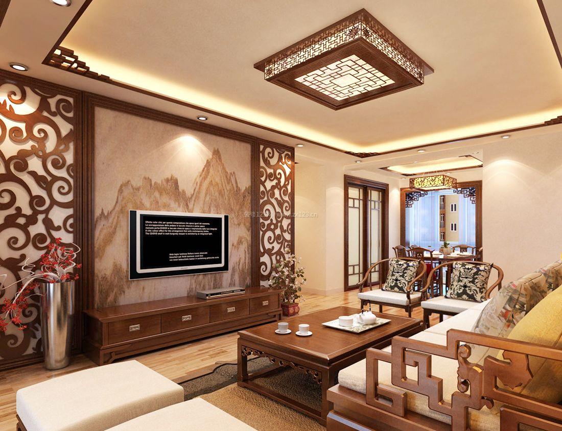 90平米室内中式元素装饰物装修效果图大全