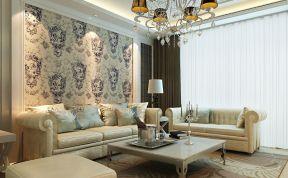 欧式现代风格 背景墙壁纸装修效果图片