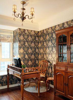 欧式现代风格 大花壁纸装修效果图片