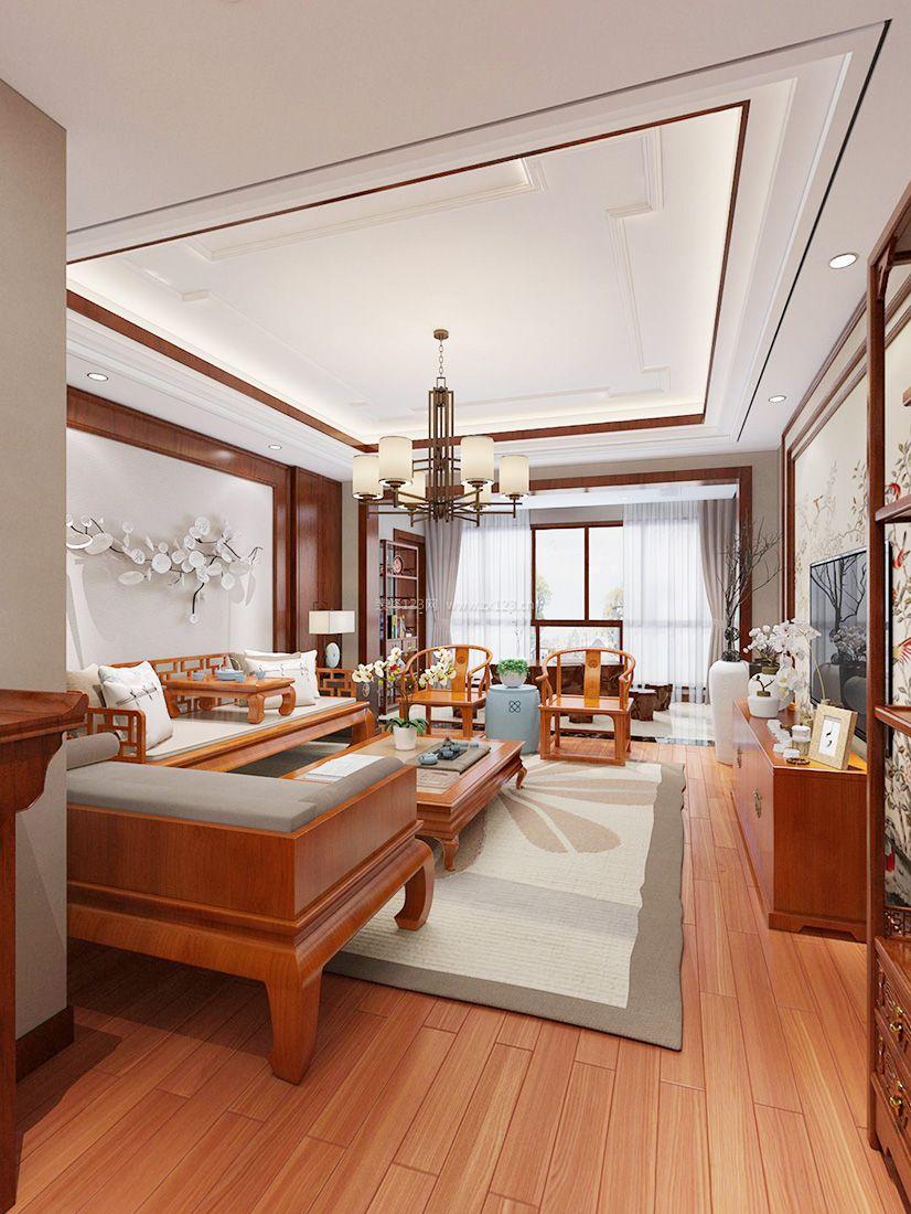 2017新中式风格客厅沙发椅子装修效果图片图片