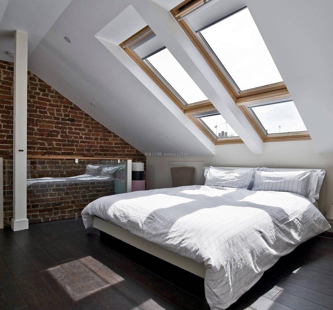 现代阁楼斜顶卧室装修效果图大全
