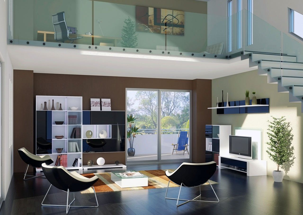 现代阁楼跃层房屋装修效果图大全