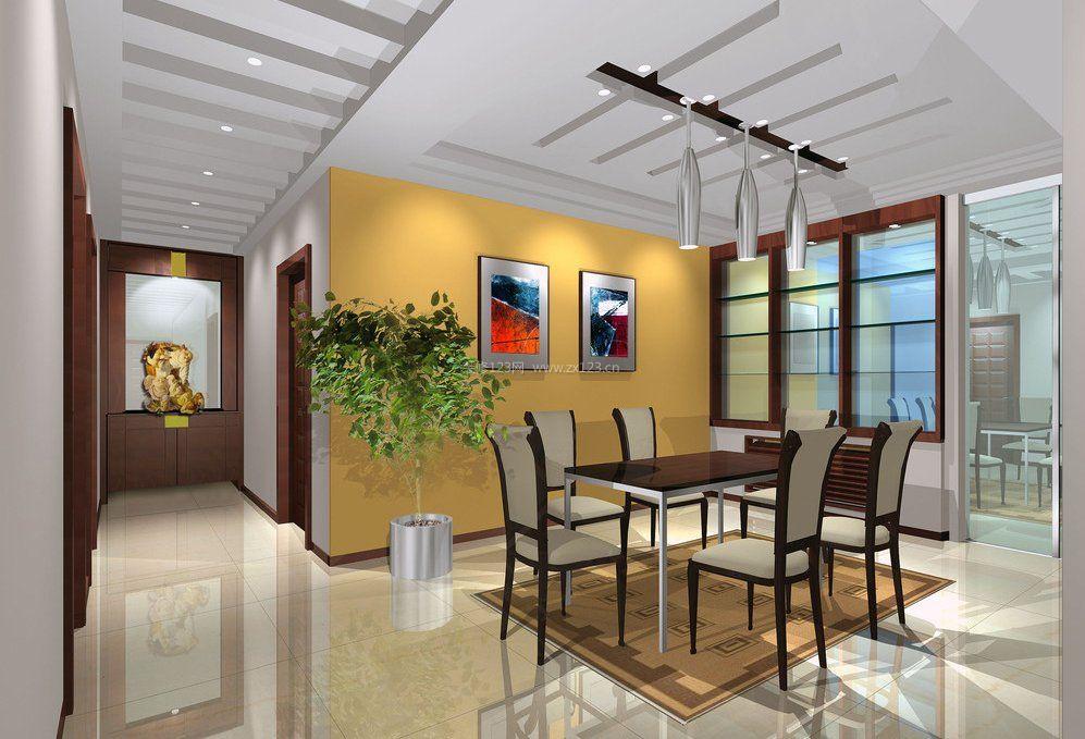 现代中式装修风格家装餐厅效果图
