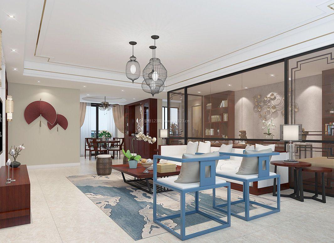 2017新中式风格客厅靠背椅装修效果图片图片