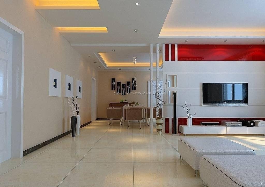 走廊客厅吊顶灯带装修效果图片