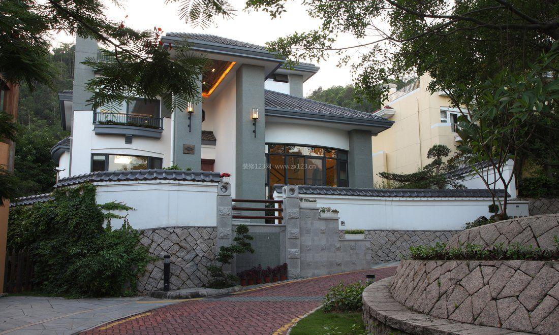中式田园简单别墅外观设计图片