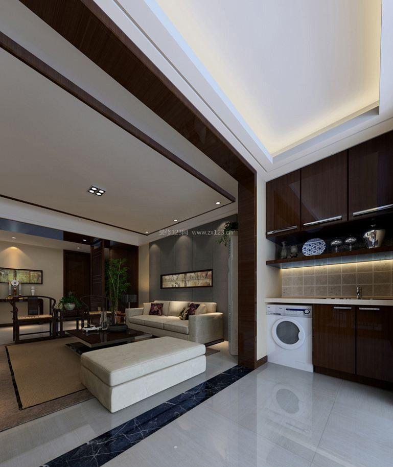 新中式風格元素大理石地磚裝修效果圖片