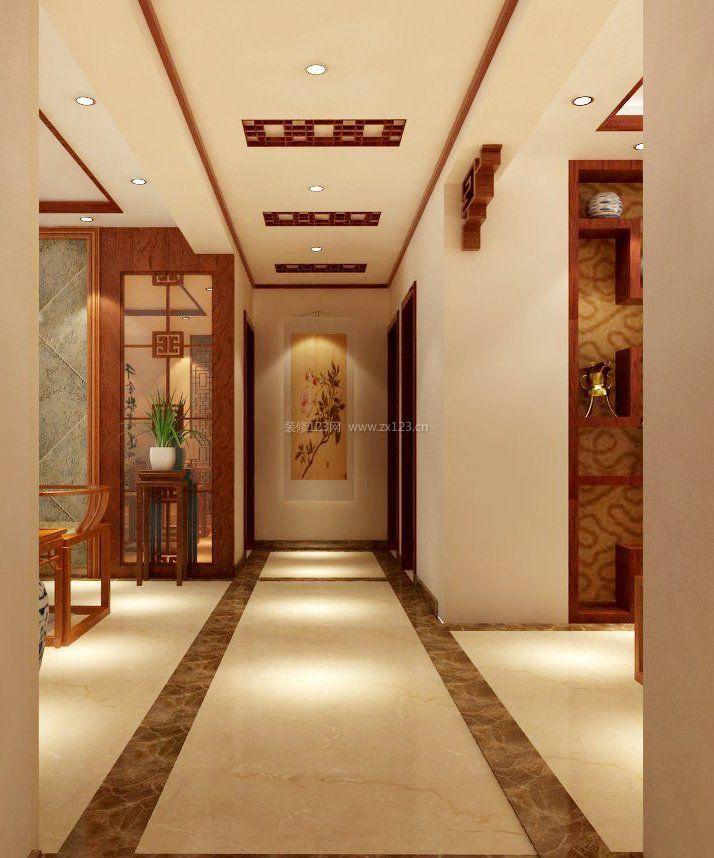 家装效果图 中式 简约中式风格走廊客厅吊顶装修效果图片 提供者