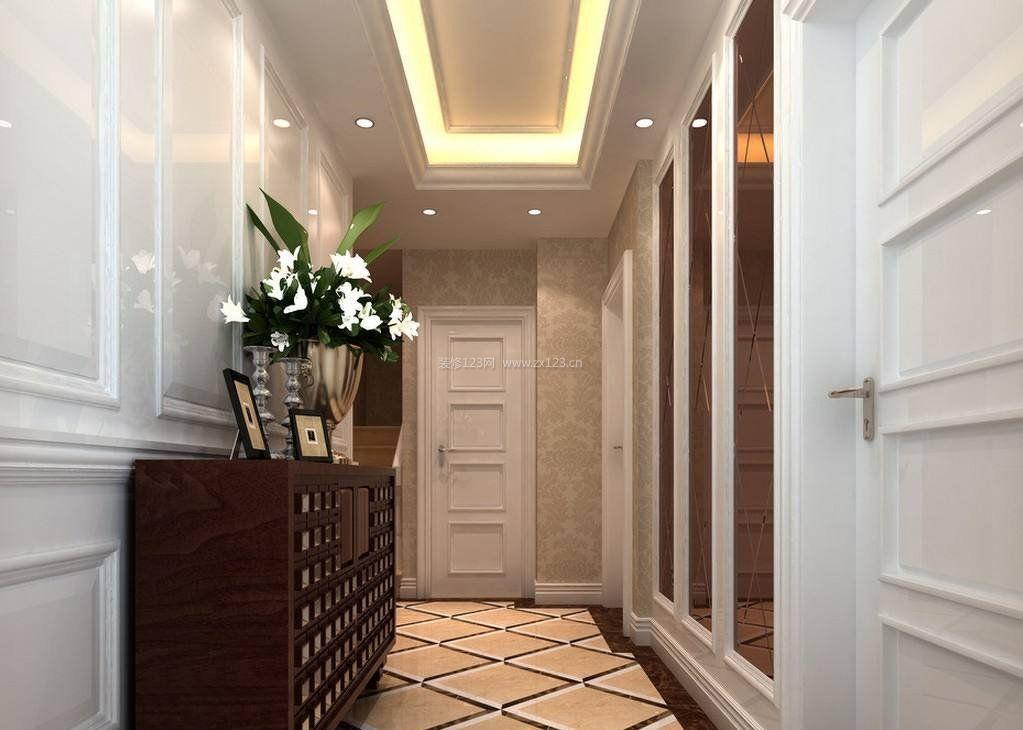 客厅走廊简单吊顶装修效果图