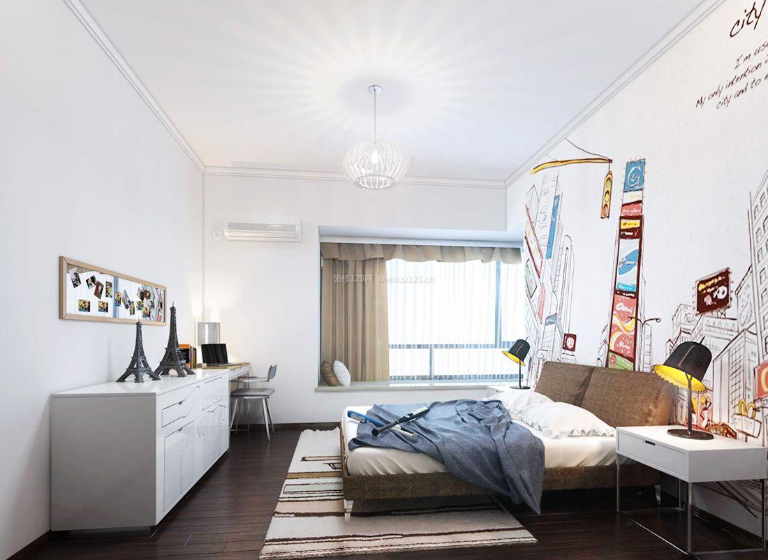 2017最新现代家居卧室背景墙装饰装修效果图片