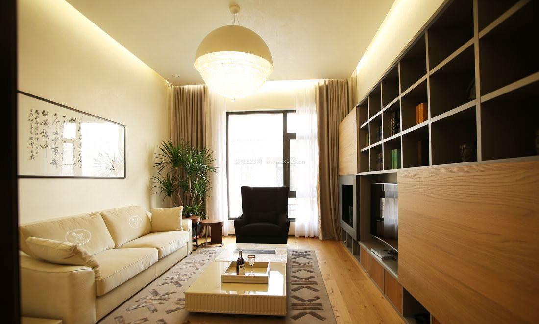 现代简约客厅设计装修图片2017