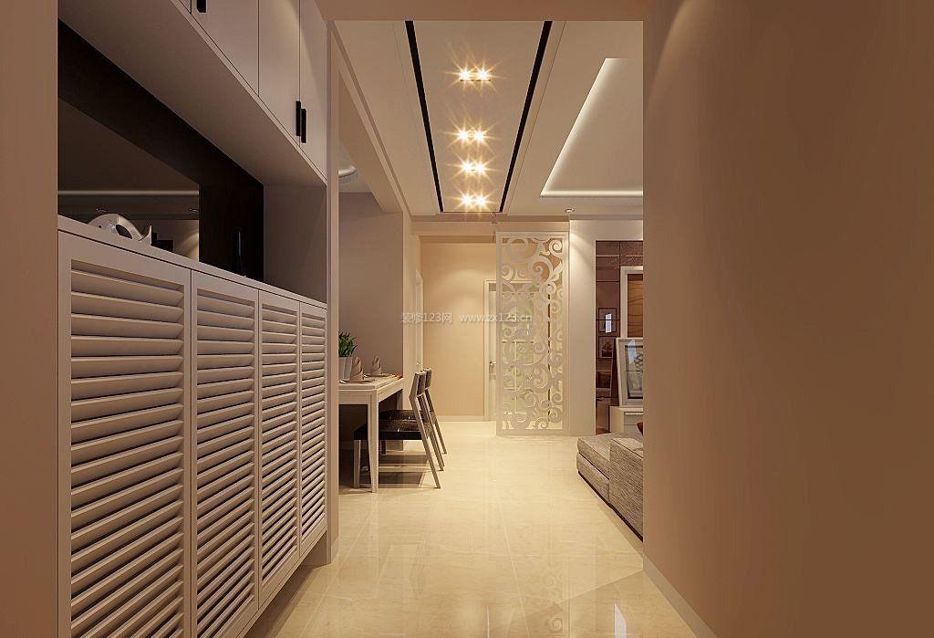 走廊客厅吊顶筒灯装修效果图片