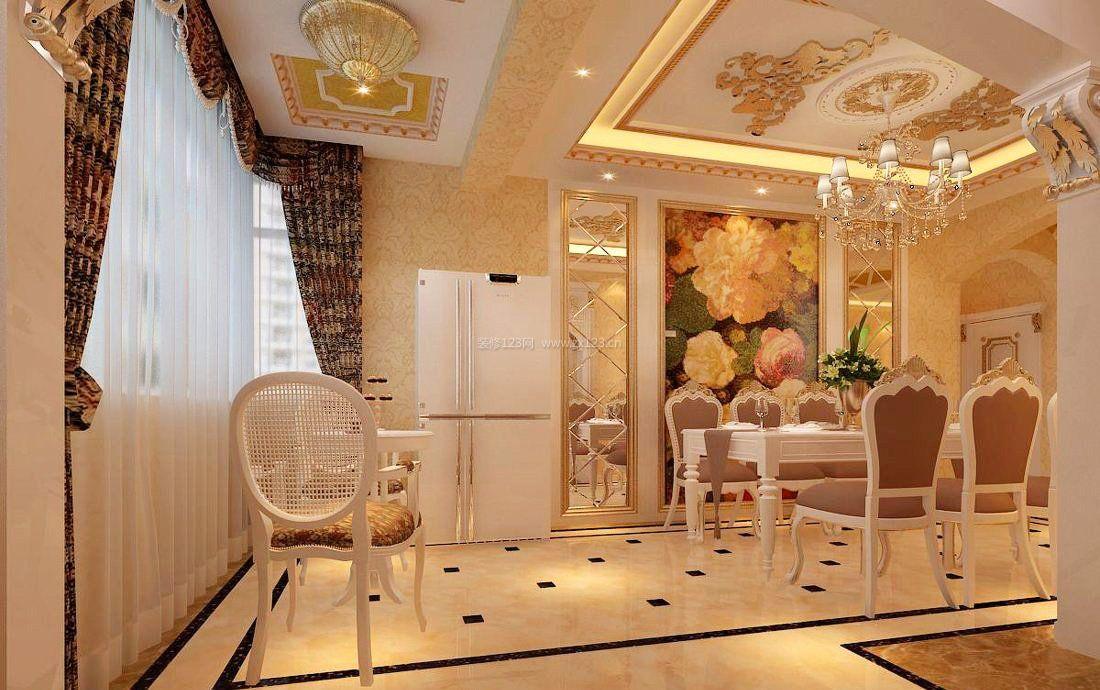 80平米简欧风格走廊客厅吊顶装修效果图图片