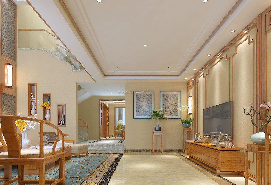 中式田园别墅室内装饰设计效果图欣赏