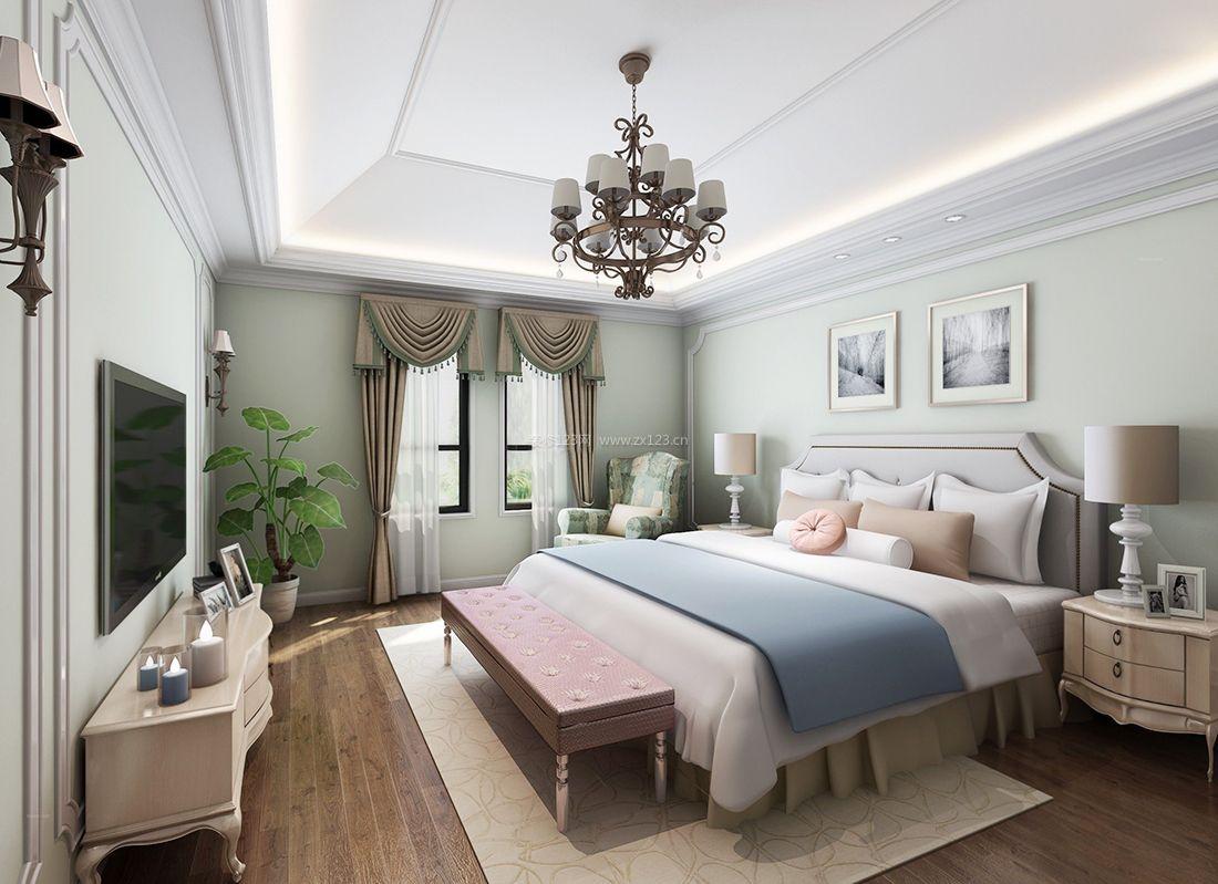欧式室内家居卧室床头柜装修效果图片2017