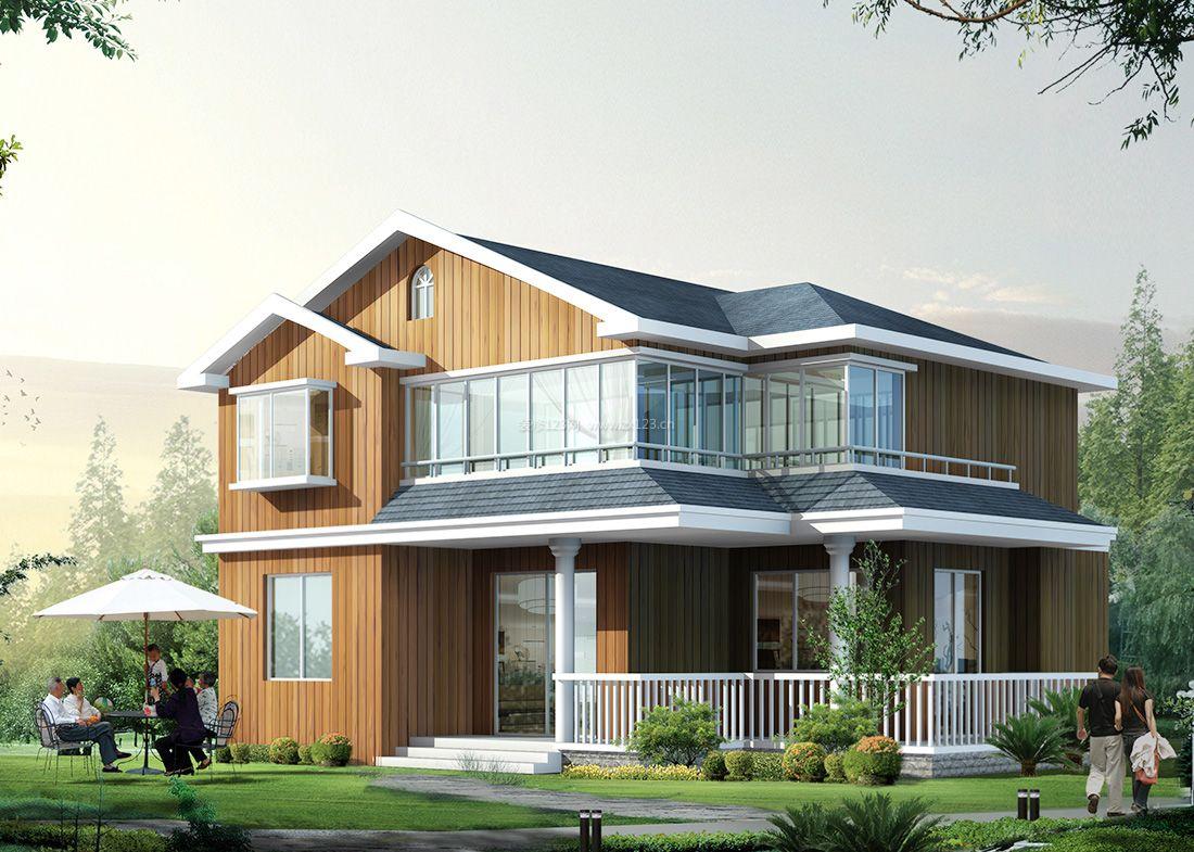 现代风格二层独栋别墅外观装修图片