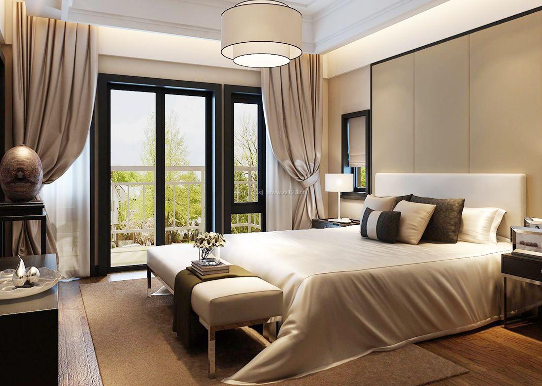 中式装修用什么窗帘-新中式窗帘搭配色系_中式房间装修效果图_红木