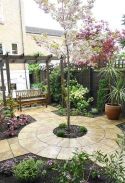 欧式混搭风格别墅庭院绿化设计效果图