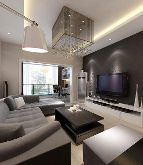 115平米裝飾效果圖 有陽臺的客廳裝修