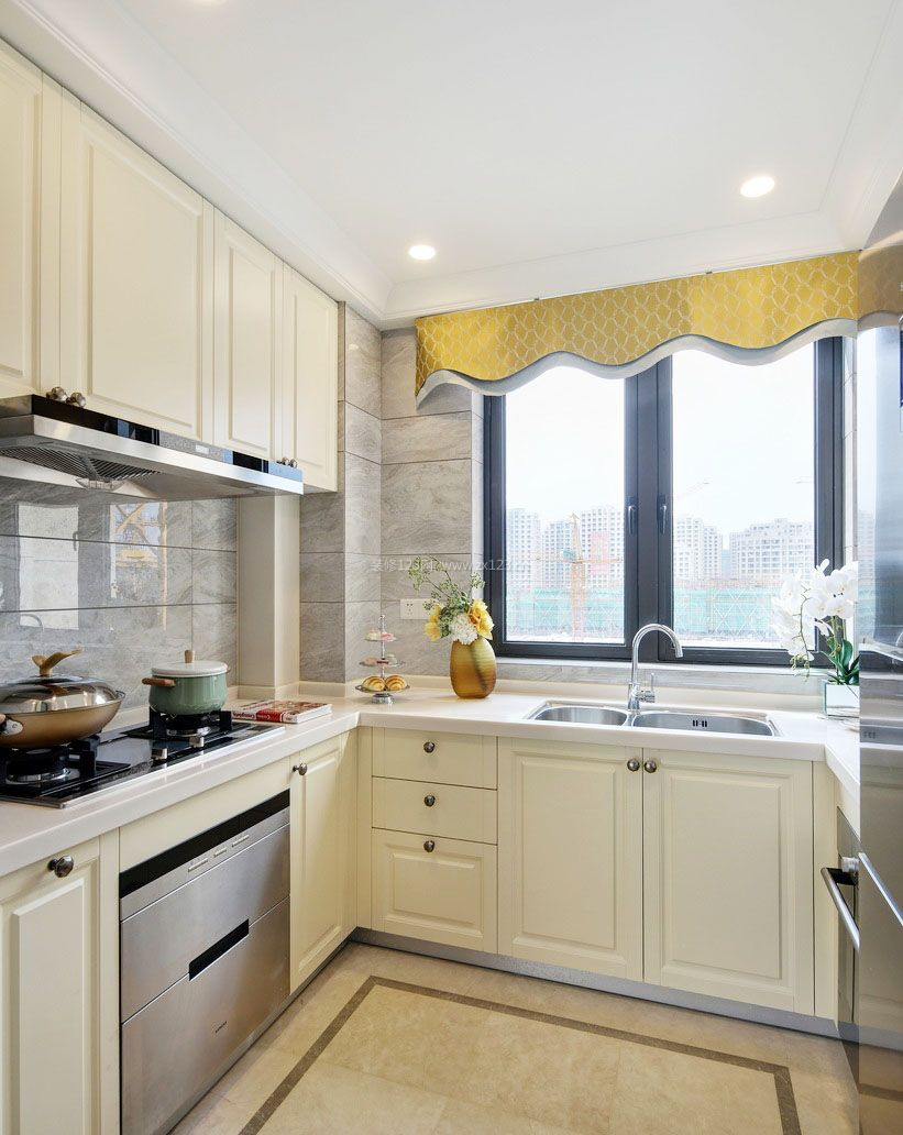 欧式整体厨房装修效果图片_装修123效果图