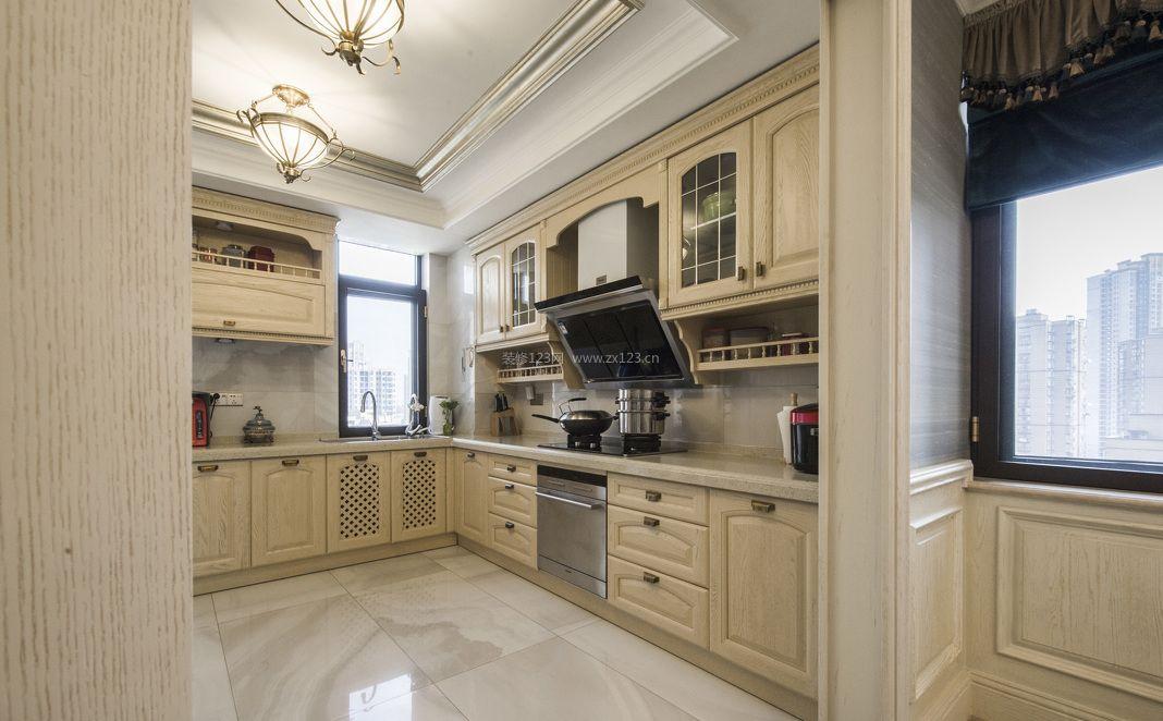 欧式整体厨房设计图片2017