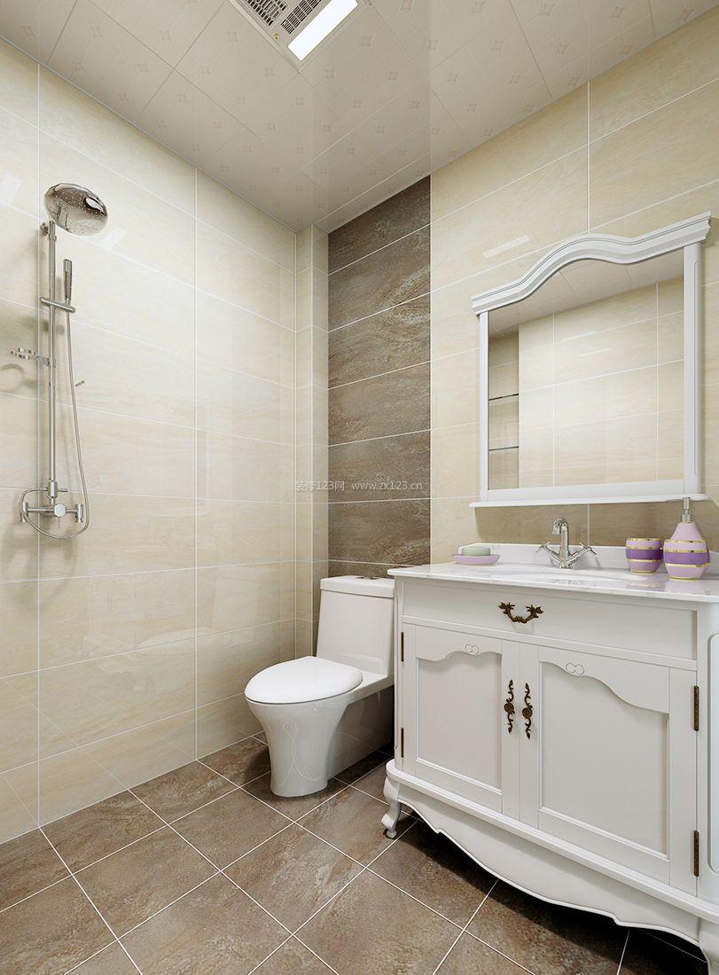 欧式超小户型卫生间浴室柜装修效果图片案例