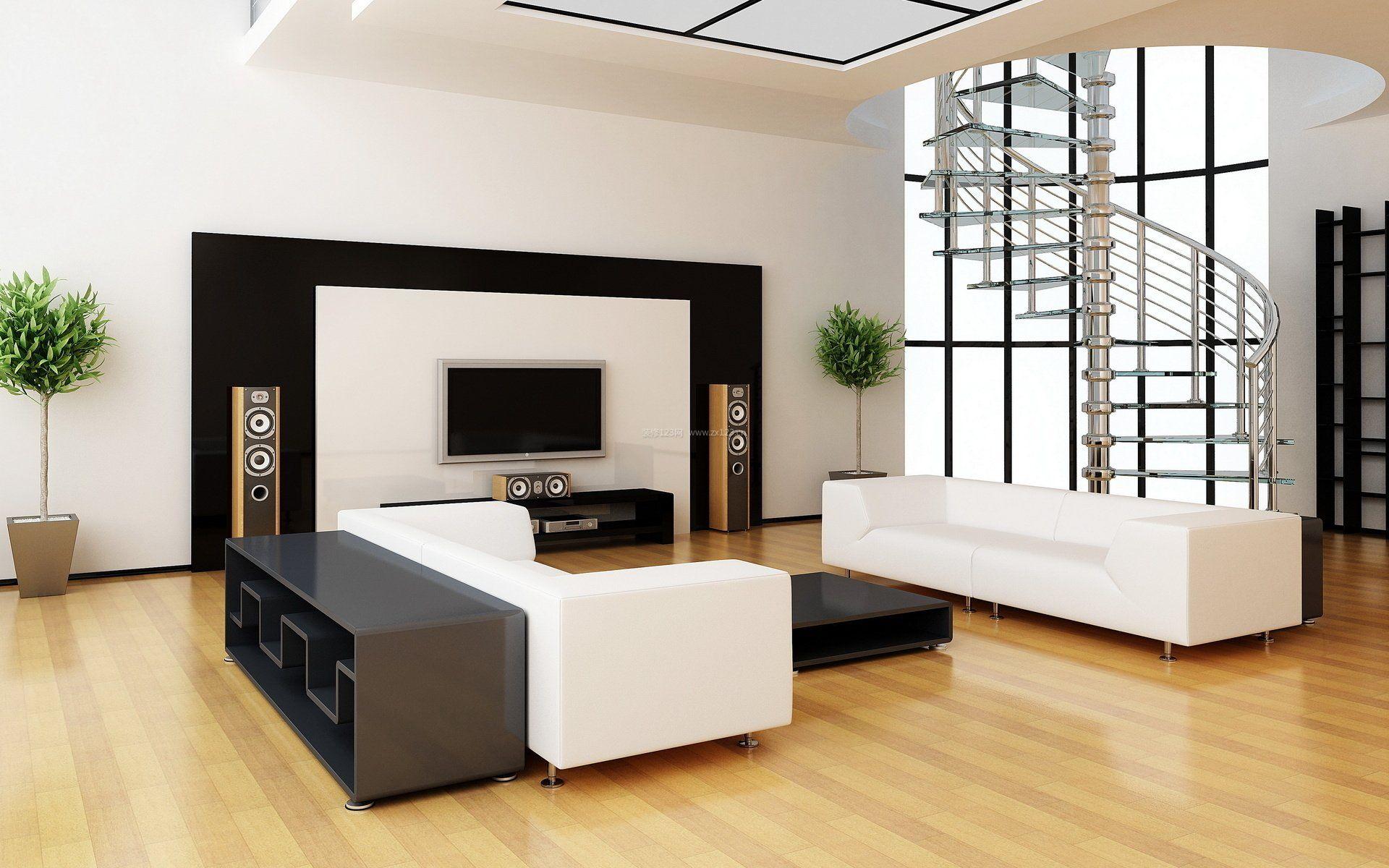 小户型室内简约客厅装饰设计效果图