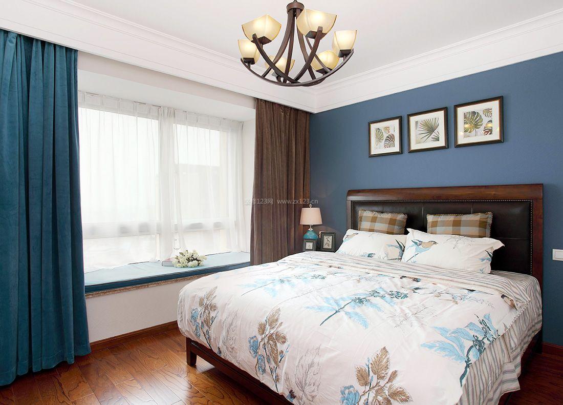 2017美式阳台改卧室窗帘搭配效果图图片