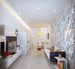 現代簡約客廳個性沙發背景墻樣板房