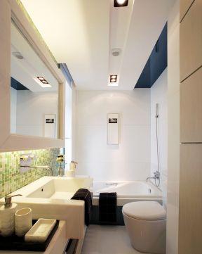 超小户型卫生间 石膏板吊顶装修效果图片图片