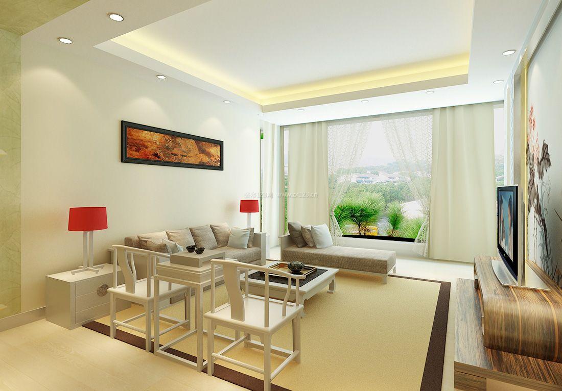 2017中式15平米客厅靠背椅装修效果图片