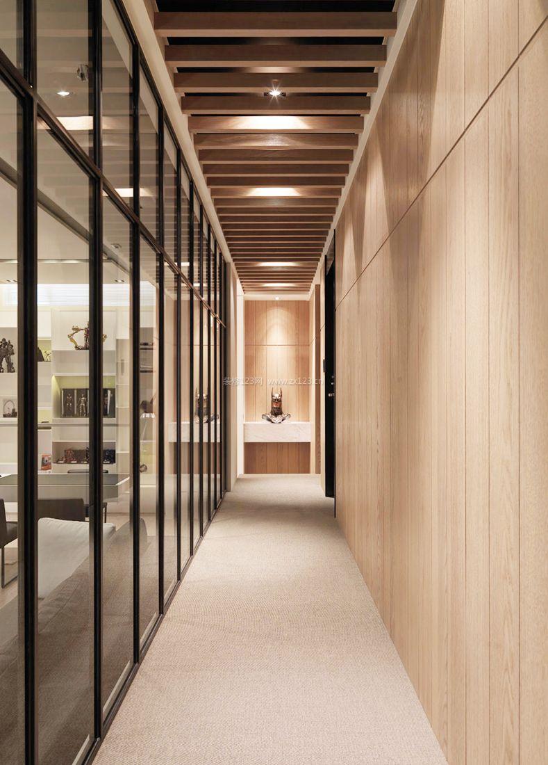 2017走廊设计木质吊顶装修效果图片