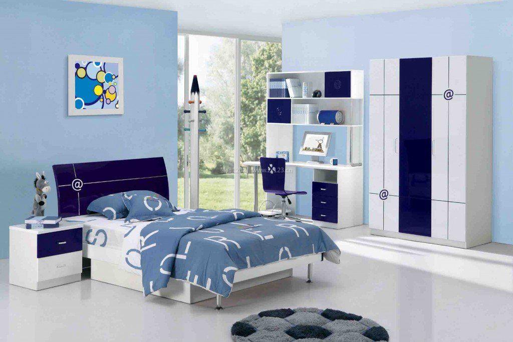 卧室与书房男生卧室装修效果图片