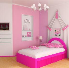小女生卧室设计 粉色卧室装修效果图图片