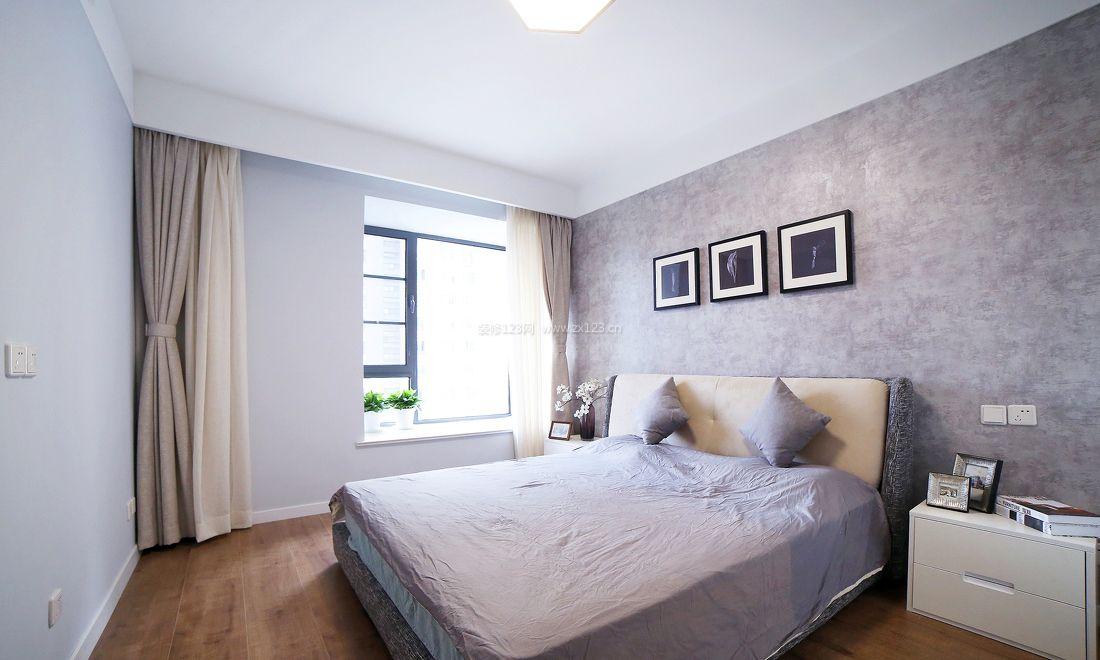 家装效果图 卧室 房屋简欧卧室背景墙装修图 提供者