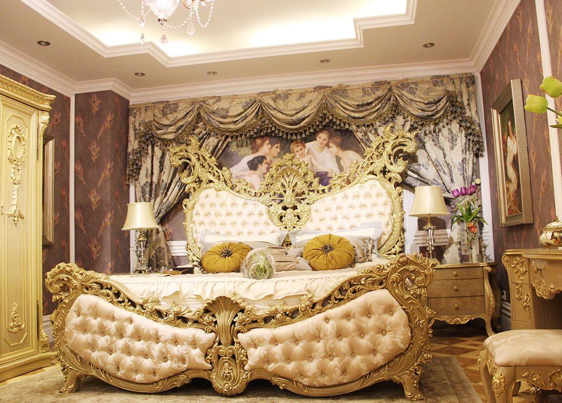 2017欧式家居室内床头背景墙设计效果图案例图片