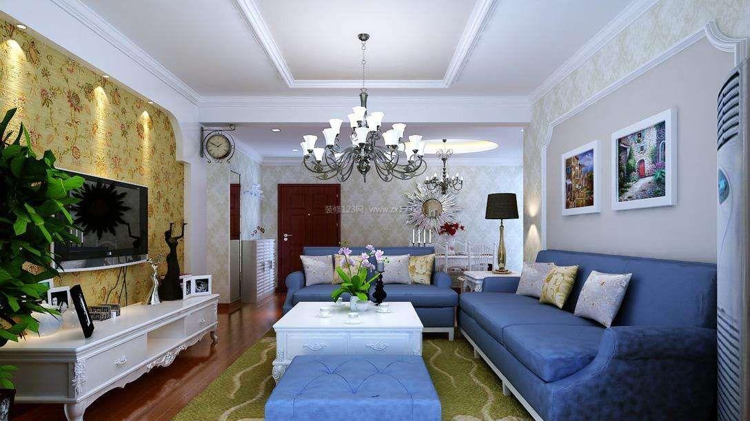 简约欧式风格客厅墙面漆颜色效果图