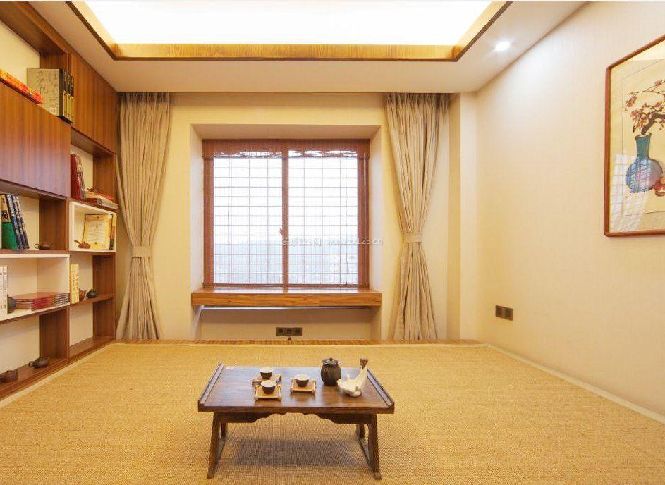 中式家居榻榻米卧室装修效果图