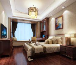 中式家居臥室飄窗設計圖