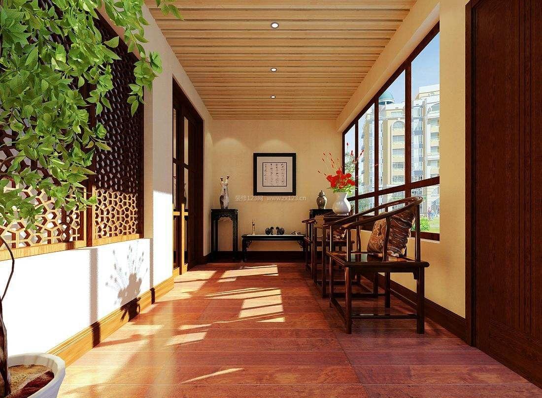 中式风格装修阳台设计装修效果图片图片