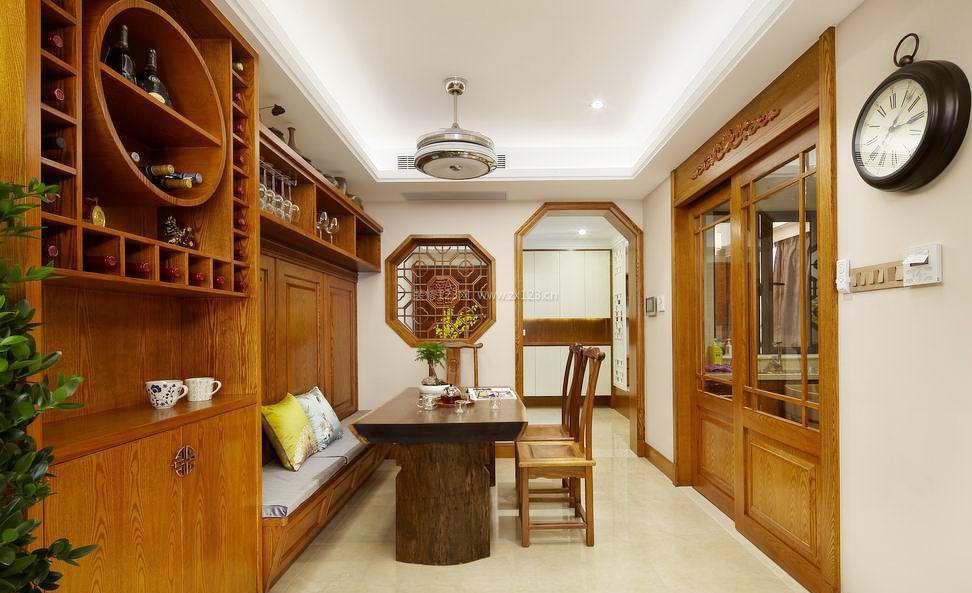 现代中式家庭餐厅吊顶装修效果图大全