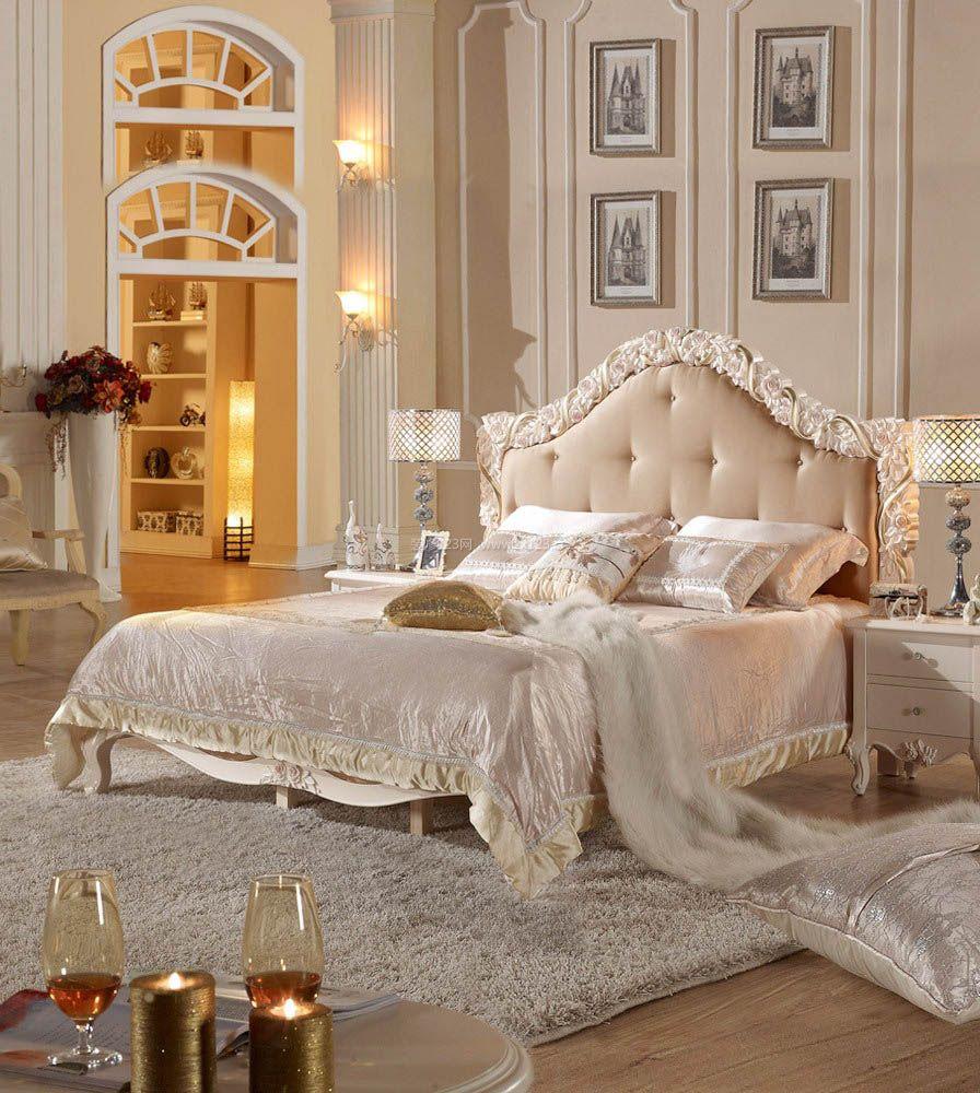 欧式豪华卧室装修设计效果图片大全图片