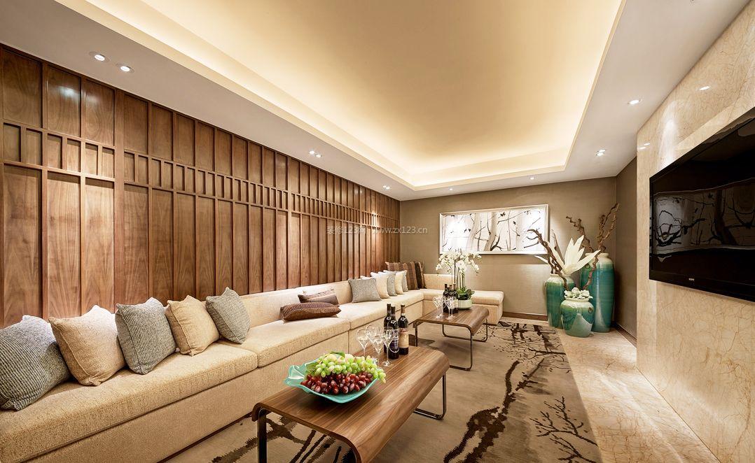 家庭娱乐室论+?_现代中式家庭娱乐室装修效果图