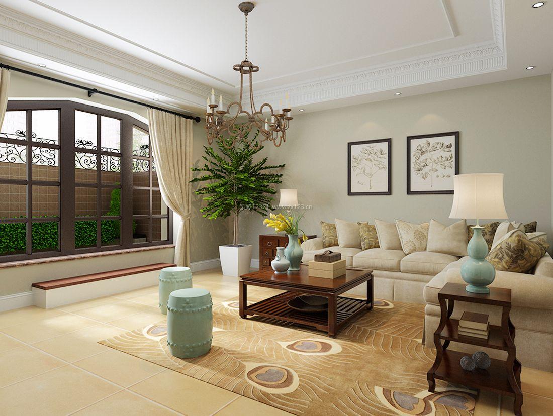 经典美式风格别墅简约客厅装修效果图