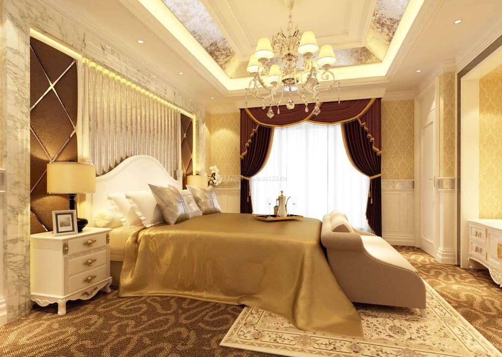 欧式豪华卧室装修设计效果图