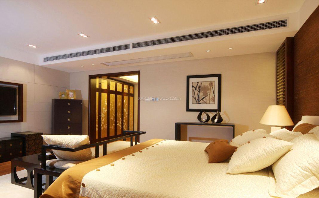 现代中式家庭室内卧室装修效果图大全