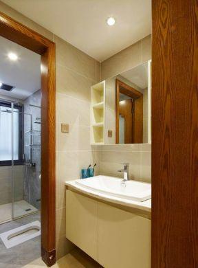 现代中式家庭洗手间设计效果图图片