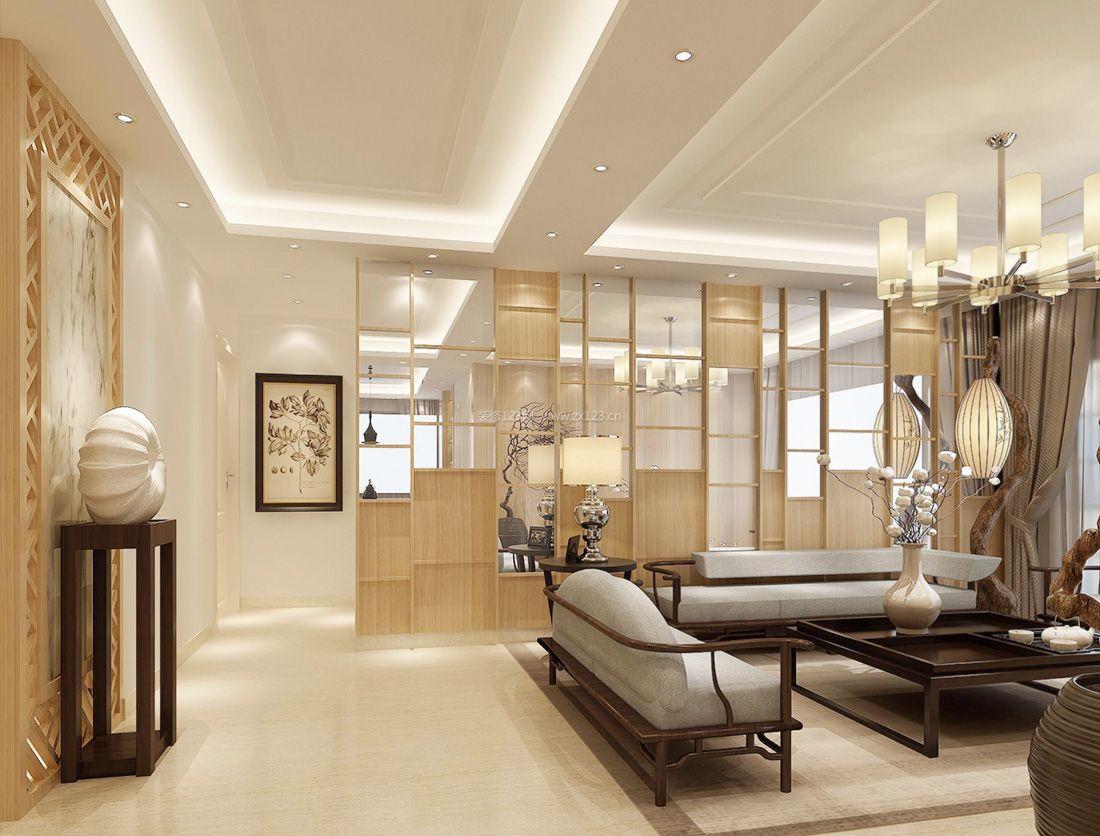 经典最新现代中式客厅沙发背景墙装修效果图片图片